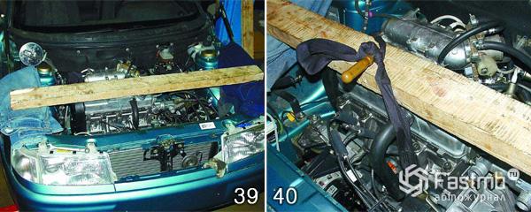 Снятие двигателя ВАЗ 2110 шаг 39-40