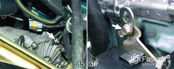 Снятие двигателя ВАЗ 2110 шаг 35-36