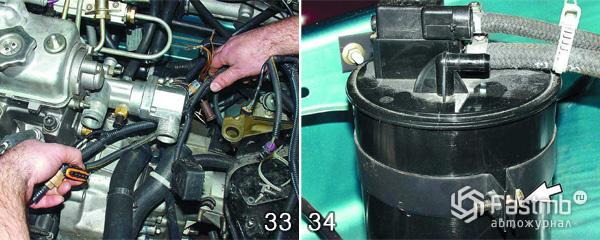 Снятие двигателя ВАЗ 2110 шаг 33-34