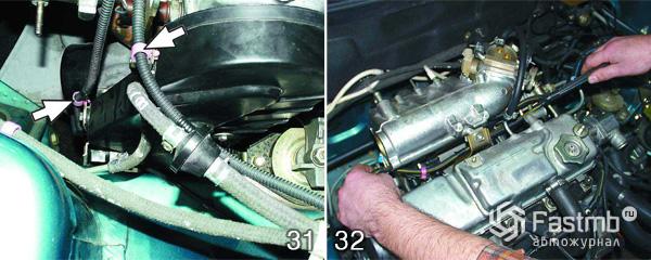 Снятие двигателя ВАЗ 2110 шаг 31-32
