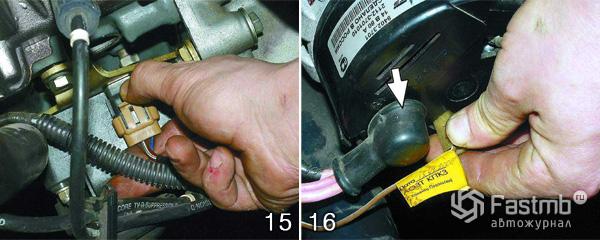 Снятие двигателя ВАЗ 2110 шаг 15-16