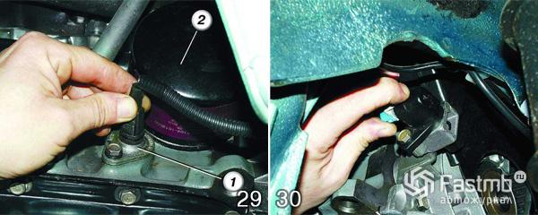 Снятие двигателя ВАЗ 2110 шаг 29-30