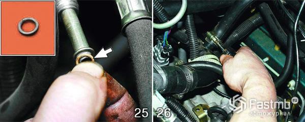 Снятие двигателя ВАЗ 2110 шаг 25-26
