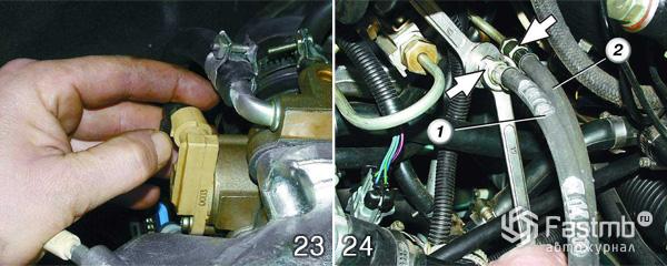 Снятие двигателя ВАЗ 2110 шаг 23-24