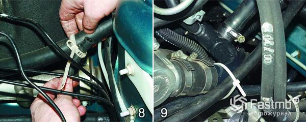 Снятие и замена радиатора охлаждения шаг 8-9