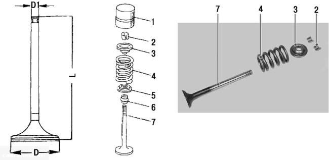 Клапан двигателя с гидрокомпенсаторами