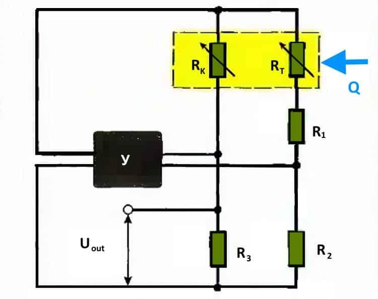Типовая функциональная схема проволочного ДМРВ