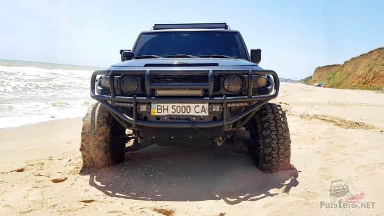 ФЖ Крузер в песке на пляже
