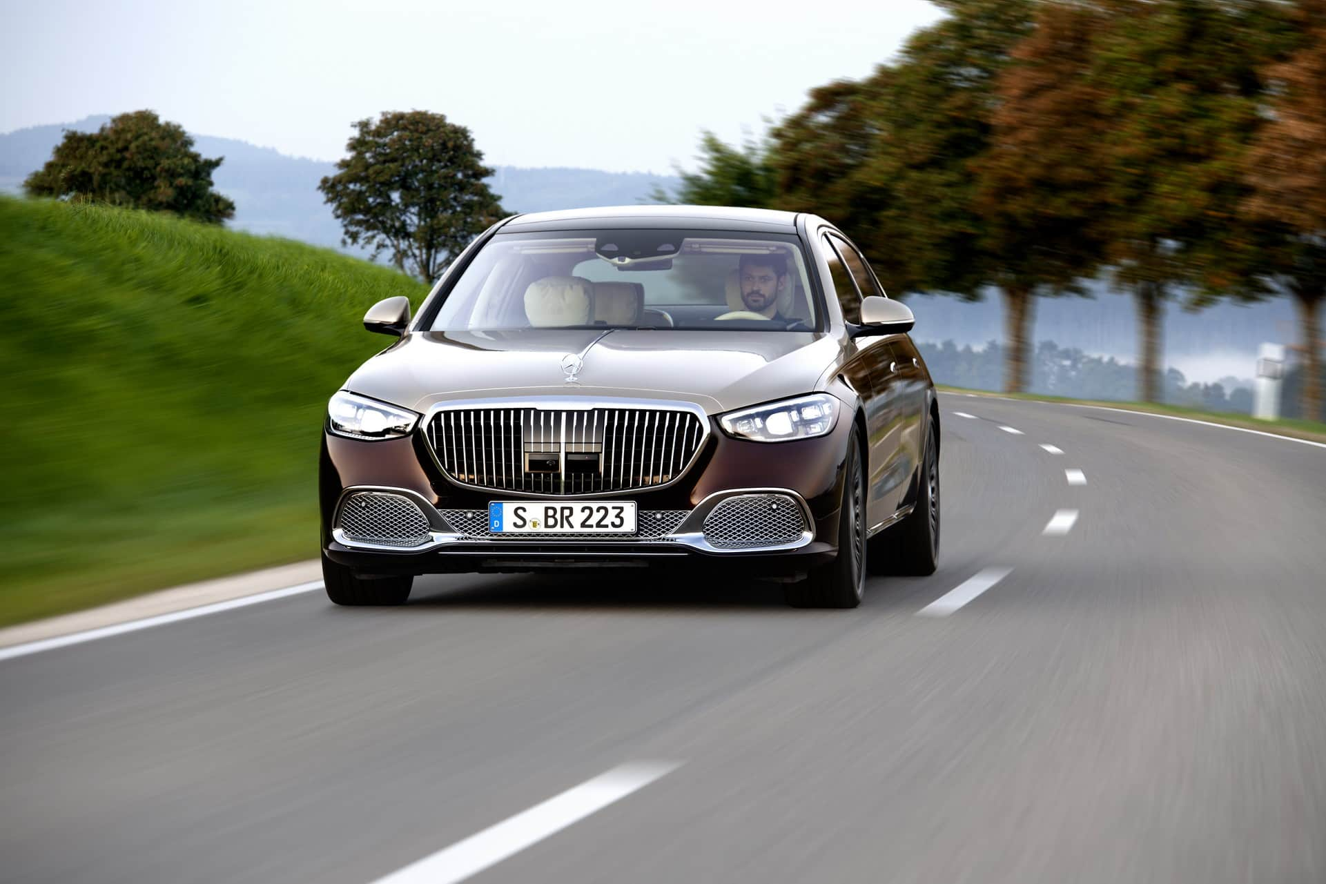 фары, решетка Mercedes-Maybach S-Class 2021