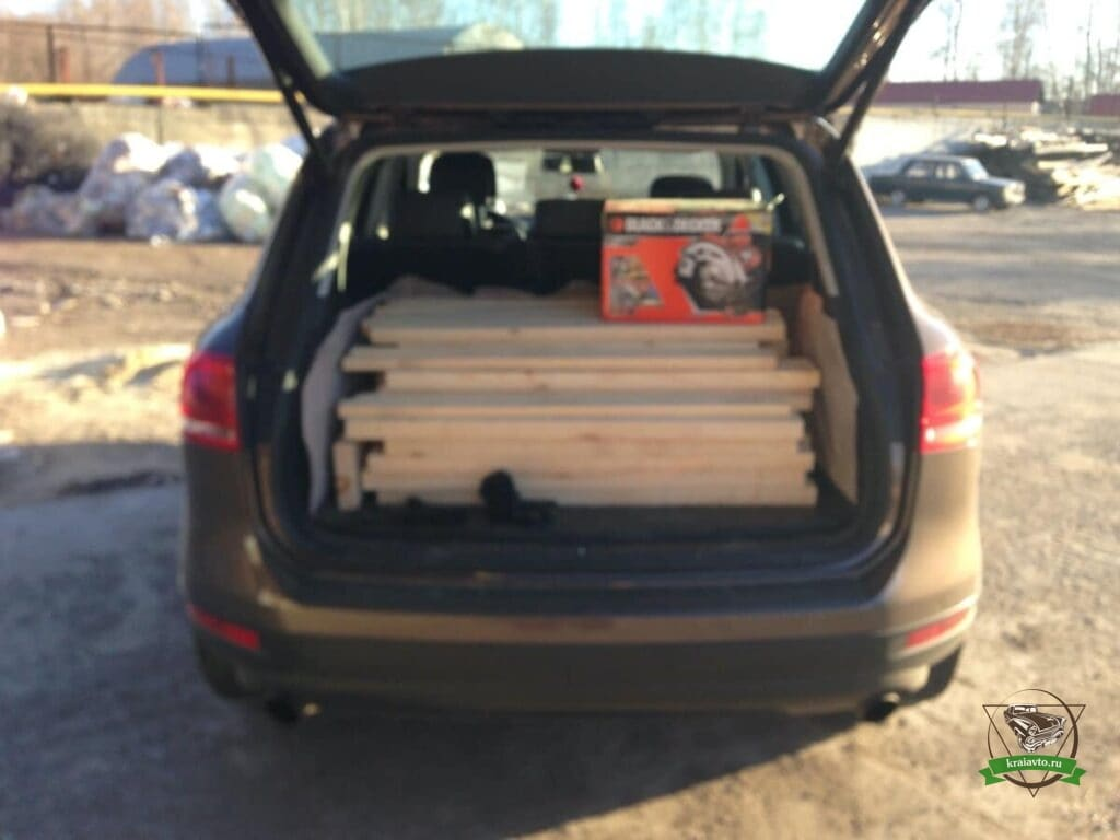 вместимость багажника Volkswagen Toaureg