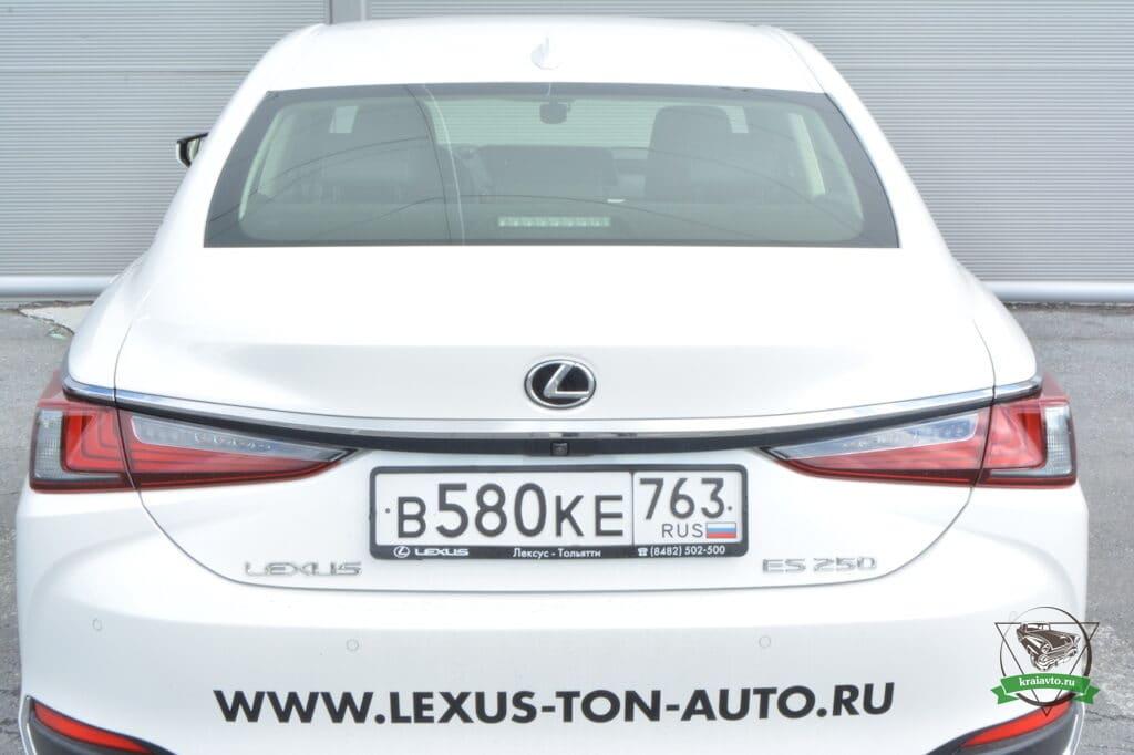 Lexus es сзади